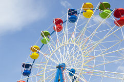 Ferris wheel detail on a blue sky Royalty Free Stock Photo