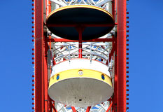 Ferris wheel details under The blue sky Royalty Free Stock Photos