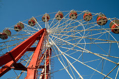 Ferris wheel in Donetsk with soccer balls Stock Photo