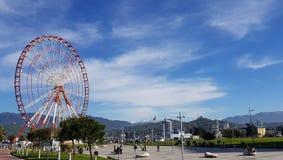 Ferris Wheel door het Overzees Royalty-vrije Stock Afbeeldingen