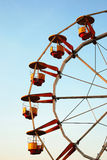 Ferris wheel at dusk. In autumn Stock Image