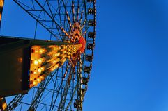 Ferris wheel at dusk Royalty Free Stock Photos