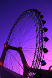 Ferris wheel at dusk Stock Photography
