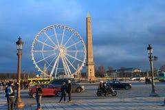 Ferris Wheel e obelisco Immagini Stock