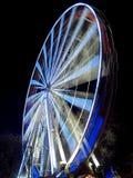 Ferris wheel from Edinburgh. Vertical carousel or Ferris wheel in motion during the Christmas Festivities in Edinburgh Stock Images