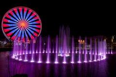 Ferris Wheel em Pigeon Forge, Tennessee durante os feriados do Natal imagem de stock