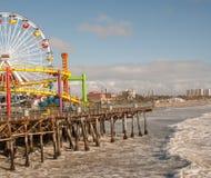 Ferris Wheel em Santa Monica fotos de stock
