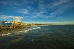 Ferris Wheel em Santa Monica Pier, Califórnia Foto de Stock Royalty Free