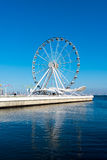 Ferris wheel on the embankment Royalty Free Stock Photos