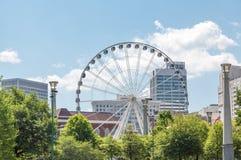 Ferris Wheel en Atlanta Imagen de archivo