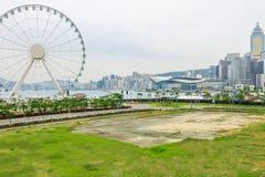 Ferris Wheel en Hong Kong Images libres de droits