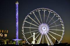 Ferris Wheel en Hyde Park Imágenes de archivo libres de regalías