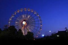 Ferris Wheel en la noche Imagen de archivo libre de regalías