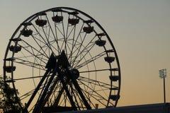 Ferris Wheel en la oscuridad Fotos de archivo libres de regalías