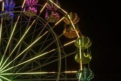 Ferris Wheel en la oscuridad Fotografía de archivo libre de regalías