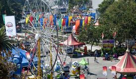 Ferris Wheel en Pret bij de Markt van de Provincie van Los Angeles Stock Foto's