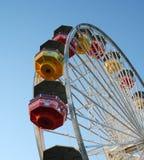 Ferris Wheel en Santa Monica Pier Imágenes de archivo libres de regalías