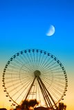 Ferris wheel in the evening Stock Photo