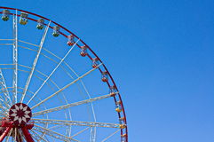 Ferris wheel. Exciting entertainment on ferris wheel stock image