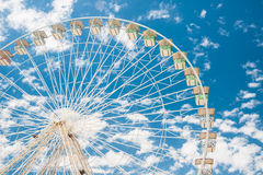 Ferris wheel of fair and amusement park Stock Photo