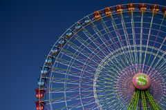 Ferris wheel in a fair royalty free stock photo