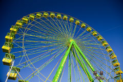 Ferris wheel. On the fair of El Puerto de Santa Maria Stock Photo
