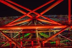 Ferris wheel at the fair ground at night
