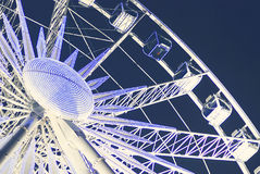 Ferris wheel at the fairground at night Stock Images