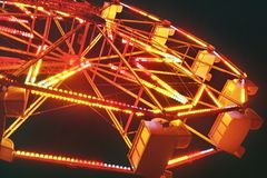 Ferris Wheel Festive Lights Royalty Free Stock Images