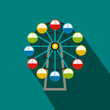 Ferris wheel flat icon Royalty Free Stock Image