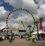 Ferris wheel at Florida State Fairgrounds. Florida State Fairgrounds attracts many visitors It is an annual State fair in Tampa. It includes,rides,attractions Stock Photos