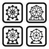 Ferris wheel in four variations Royalty Free Stock Photography