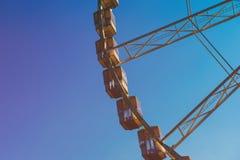 Ferris wheel fragment Stock Image