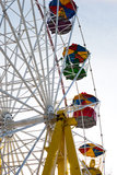 Old Ferris wheel fragment Royalty Free Stock Photo