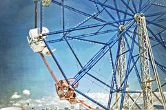 Ferris Wheel Fun. Vintage timeless photo of a ferris wheel Stock Image