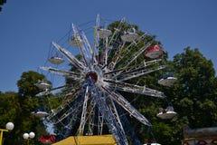 Ferris wheel. Fun fair gondolas Royalty Free Stock Photos