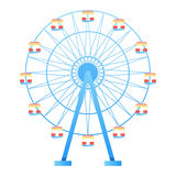Ferris Wheel fun park in white background vector illustration.  Stock Photography
