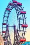 """Ferris Wheel géant le plus âgé dans le monde """"Parterstern dans l'"""" de l'Autriche images stock"""