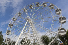 Ferris wheel in the garden named after Karaev in the resort town of Evpatoria Royalty Free Stock Image