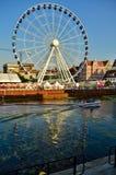 Ferris wheel in Gdansk Stock Photo