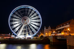 Ferris wheel in Gdansk, Poland Royalty Free Stock Images