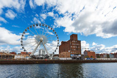 Ferris wheel, Gdansk Royalty Free Stock Images