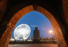 Ferris wheel in the Gdansk. Royalty Free Stock Image