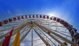 Ferris wheel in Geneva Geneve of Switzerland royalty free stock photos