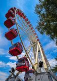 Ferris wheel in Geneva Geneve of Switzerland stock image