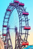 """Ferris Wheel gigante o mais idoso no mundo """"Parterstern no """" de Áustria imagens de stock"""