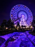 Ferris Wheel. The glamorous night of Ferris Wheel in Fengling children's park of Nanning Royalty Free Stock Images