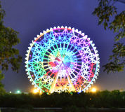 Ferris Wheel. The glamorous night of Ferris Wheel in Fengling  children's park of Nanning,Guangxi,China Stock Photos
