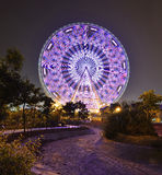Ferris Wheel. The glamorous night of Ferris Wheel in Fengling  childrens park of Nanning,Guangxi,China Stock Photography
