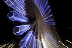 Ferris Wheel glowing at night Royalty Free Stock Images